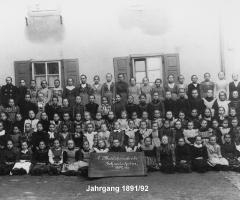 JG 1891/92 Erste Mädchenschule