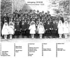 JG 1919/20 Kommunion 1929