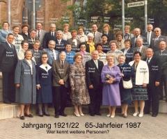 JG 1921/22 65-jähriges 1987