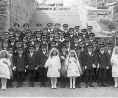 JG 1921/22 Kommunion Buben 1930