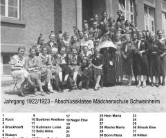JG 1922/23 Abschlussklasse Mädchen