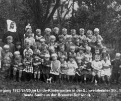 JG 1923/24/25 Linde-Kindergarten 1927