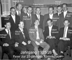 JG 1925/26 25-jährige Kommunion