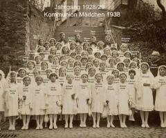 JG 1928/29 Kommunion Mädchen 1938