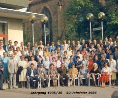 JG 1935/36 50-Jahrfeier 1986