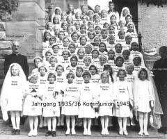 JG 1935/36 Kommunion Mädchen 1945