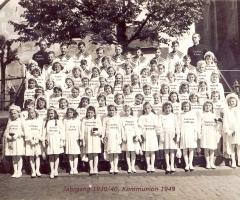 JG 1939/40 Kommunion Mädchen 1949