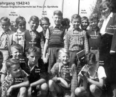 JG 1942/43 6. Klasse Englischunterricht 1955 Frau Dr. Spröhnle