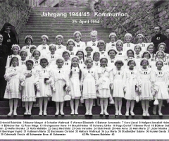 JG 1944/45 Kommunion Mädchen