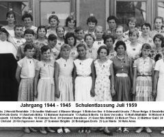 JG 1944/45 Schulentlassung Mädchen 1959