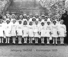 JG 1945/46 Kommunion Mädchen 1955