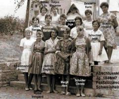 JG 1946/47 Abschlussklasse Mädchen