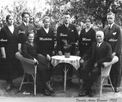 Brunner Anton u. Anna Familie 1933