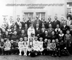 Brunner Valentin und Marie Hochzeit 1936 Unterhainstr