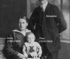 Elbert Sebastian mit Familie 1918