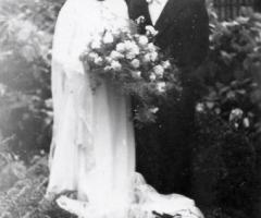 Hettinger Alfred Margareta geb Rickert 1951 Hochzeit