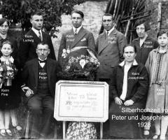 Keim Peter und Josephine Silberhochzeit 1928