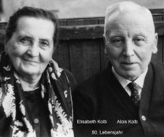 Kolb Alois Kolb Elisabeth