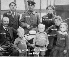 Kolb Jakob mit Familie 1910