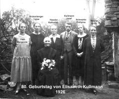 Kullmann Elisabeth 80. Geburtstag