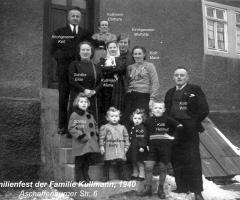 Kullmann Familienfest 1940 Aschaffenburger Str 6
