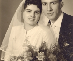 Kunkel Ernst und Elma Hochzeit um 1957
