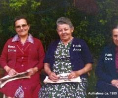 Merz Emile, Hock Anna, Fäth Dora 1985
