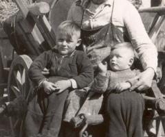 Oberle Johann mit Werner und Norbert