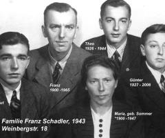 Schadler Franz 1943 Familie Weinbergstr 18