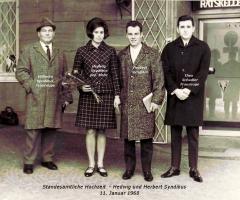 Syndikus Herbert und Hedwig Standesamtliche Hochzeit 1968