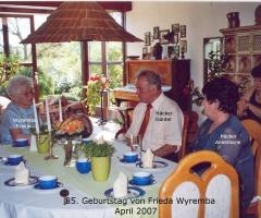Wyremba Frieda 85. Geburtstag 2007