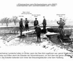 Eismacher am Schwindsee um 1925