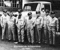 Mitarbeiter der Schwind-Bräu 1980