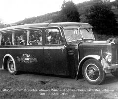 Autobus Meier Ausflugsfahrt nach Mespelbrunn 1934