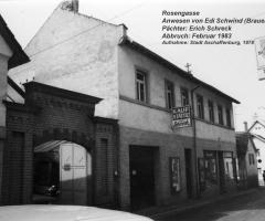 Bäckerei Stürmer Rosengasse ehem Schwind-Haus 1978