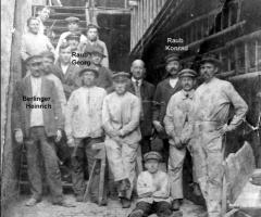 Malergeschäft Kolb mit Mitarbeiter 1925