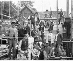 Maurergeschäft Hessbacher Klos Bauarbeiter um 1934