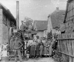 Dreschtag in der Unterhainstr um 1905