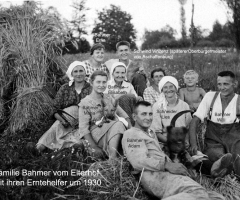 Elterhof Bahmer Erntepause 1930