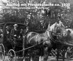 Dümpelsmühle 1930 Ausflug mit Pferdekutsche