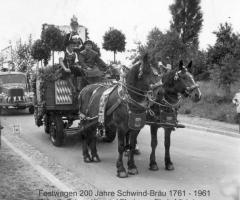 Festzug 200 Jahre Schwindbräu 1961
