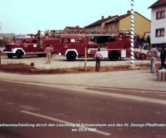 Maibaumaufstellung 1980 (3)