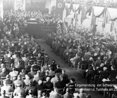 Eingemeindung Morgenfeier Turnhalle 23.4.1939