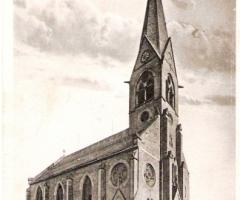Ansichtskarte Schweinheimer Kirche 1900