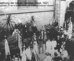 Glocken-Einweihung 1921