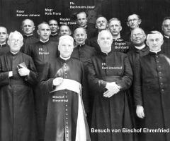 Besuch Bischof Ehrenfried in Schweinheim 1937