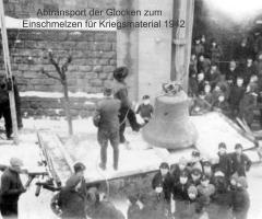 Glocken-Abtransport zum Einschmelzen 1942