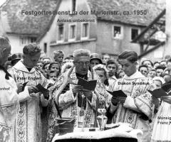 Festgottesdienst Marienstr 1950