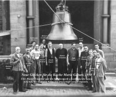 Neue Glocken Montage 1950