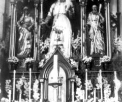 Maria Geburt Innenraum Marienaltar 1950